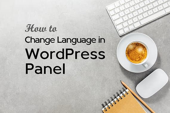 How To Change The Language in WordPress Panel