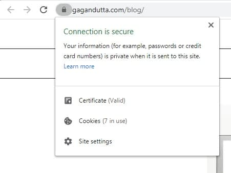 SSL image - freelance web designer - gagandutta.com
